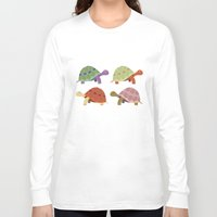turtles Long Sleeve T-shirts featuring Turtles by TypicalArtGuy