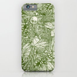 forest floor green ivory iPhone Case