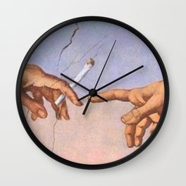 The Creation of Cigarettes Wall Clock