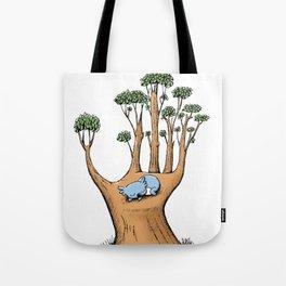 Cute Koala in a Tree Hand Tote Bag