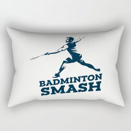 Badminton Player Rectangular Pillow