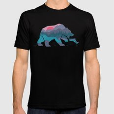 Bear Country Black LARGE Mens Fitted Tee