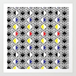 Bauhous Pattern Art Print