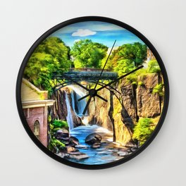 Paterson Great Falls in National Historical Park Wall Clock
