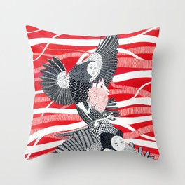 Alchonst and Sirin Throw Pillow