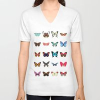 butterflies V-neck T-shirts featuring Butterflies by Dorothy Leigh