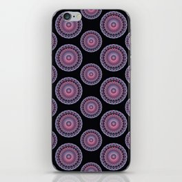 Mandala in red and violet colors iPhone Skin