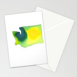 Washington Green Stationery Cards