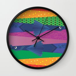 Inseparable Fishes Wall Clock