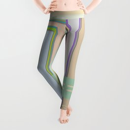 Circuit Board Blips, graphic design Leggings