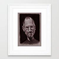 steve jobs Framed Art Prints featuring Steve Jobs by AndreKoeks