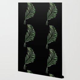 Black Palm Leaf Wallpaper