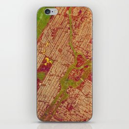Central Park New York, old map, vintage old map, mapa antiguo, american map iPhone Skin