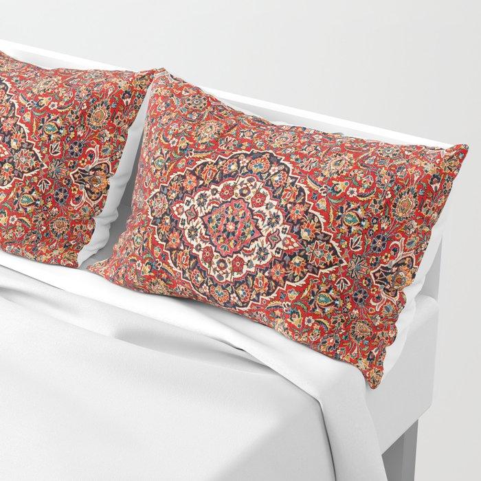 Kashan  Antique Central Persian Rug Print Kissenbezug