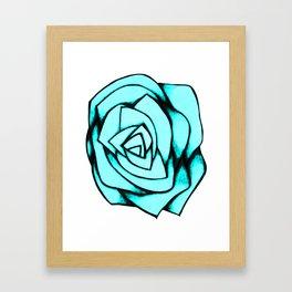 Turquoise Rose Framed Art Print