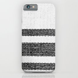 Woven Stripes Black and White iPhone Case