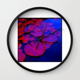 lily pads I Wall Clock