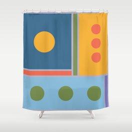 Millennium Blocks Shower Curtain
