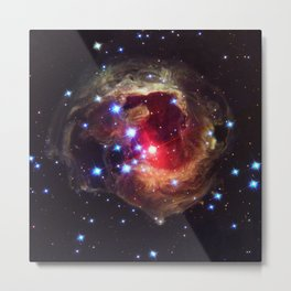 Red Supergiant Star V838 Monocerotis Deep Space Telescopic Photograph Metal Print