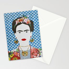 Frida Kahlo printed reproduction of an original papercraft illustration Stationery Cards