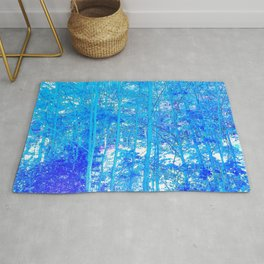 268 - Abstract Blue Forest Rug