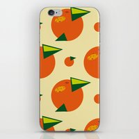 orange pattern iPhone & iPod Skins featuring orange pattern by Avrora-slip