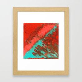 LAVA   Fluid acrylic art by Natalie Burnett Art Framed Art Print