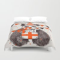 birthday Duvet Covers featuring Happy Birthday by Tobe Fonseca