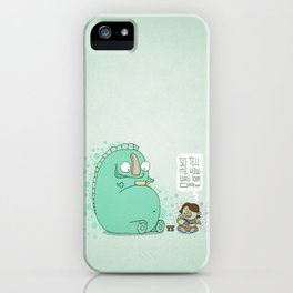 Monster and Tea iPhone Case