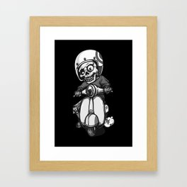 the skeleton ride motorcycle Framed Art Print