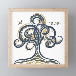 Geometric Tree Framed Mini Art Print