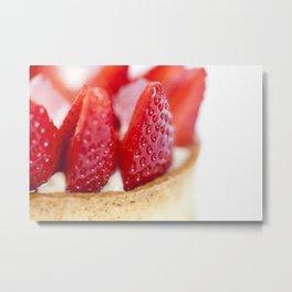 Strawberry Torte Metal Print
