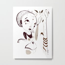 """""""Tell me your song"""" project /1/ Death by chocolate - Emilie Record Metal Print"""