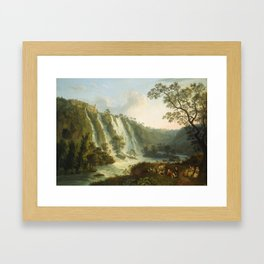 illa of Maecenas and Waterfalls at Tivoli by Jakob Philipp Hackert Framed Art Print