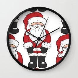 Santa, father Christmas art Wall Clock