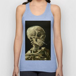 Vincent van Gogh Head of a Skeleton with a Burning Cigarette Unisex Tank Top