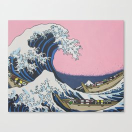 Sushi Waves Canvas Print