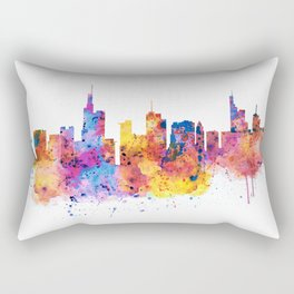 Frankfurt Skyline Rectangular Pillow