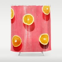 fruit Shower Curtains featuring fruit 5 by LEEMO