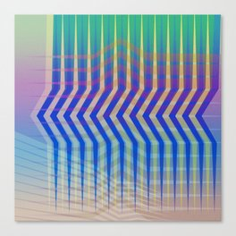 Jagged Lines Intersecting Canvas Print