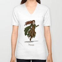 valar morghulis V-neck T-shirts featuring Nessa by wolfanita
