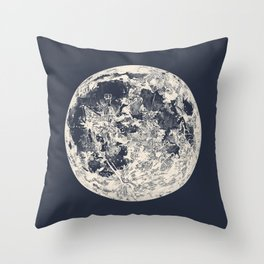 Telescopic Appearance of the Moon Throw Pillow