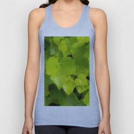 Green leaves with dew Unisex Tank Top
