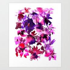 Sara Floral Pink Art Print