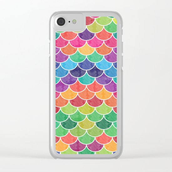 Watercolor Lovely Pattern VVXVI Clear iPhone Case