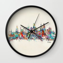 london city skyline Wall Clock