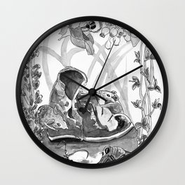 Mouse in the hause illustration Wall Clock