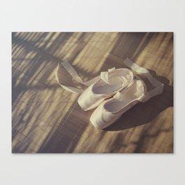 Ballet dance shoes Canvas Print