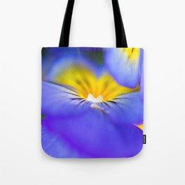 Pansy Abstract Tote Bag