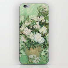 Vase With Pink Roses by Vincent Van Gogh iPhone Skin